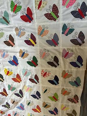 Double Butterfly quilt top