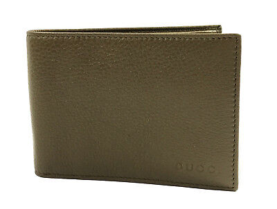 cc5bb7a86c5 NEW GUCCI MEN S 292534 Olive Green Textured Leather W Coin Large ...