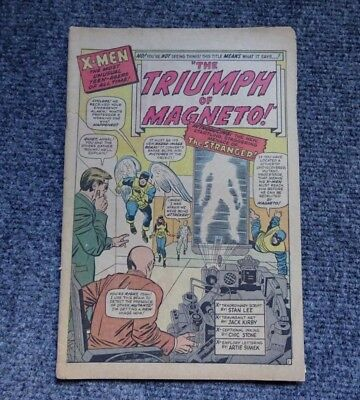The Uncanny X-Men #11 ~ Coverless. May 1965. First appearance of The Stranger!
