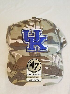 newest collection 241d1 6ce2b  NWT Sparkle Kentucky Wildcats College Camo Brand  47 Clean Up Adjustable  Hat