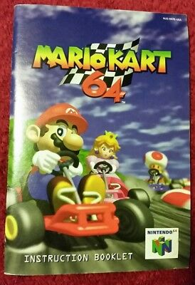 Mario Kart N64 Nintendo 64 Instruction Manual Authentic