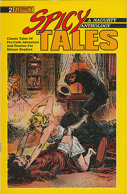 Spicy Tales #2 FN 1988 Eternity Comics Pre-Code Pulp Comic B&W reprint anthology