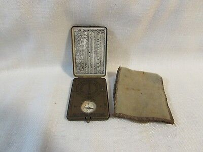 Vintage Sunwatch Compass Boy Scouts by Outdoor Supply Co, Made in USA w/Pouch