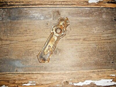Vtg Antique Fancy Chippy Shabby Steampunk Art Deco  Rustic Door Knob Backplate