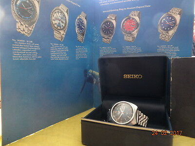 2/1970 Seiko 5 Sports 70M 6119 6023 Blue Dial Mineral Glas Orgnl Box Band Servic