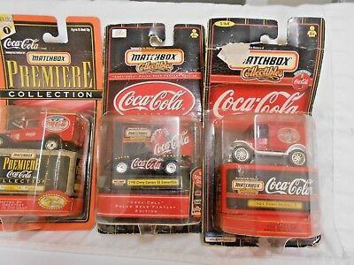 Matchbox Collectibles Coca Cola (2) Delivery Trucks & 1998 Chevy Camaro