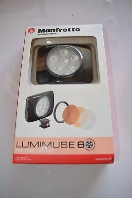 Manfrotto Lumimuse 6 On Camera LED Light Camera Lighting Black BRAND NEW