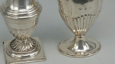 Two Victorian silver pepper pots 1897 & 1898