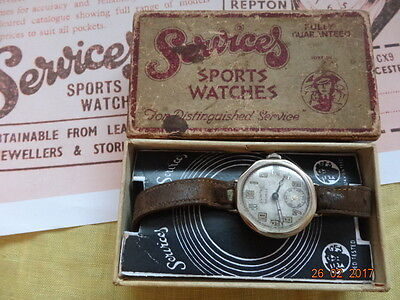 1935 SERVICES SPORTS OCTAGON 30mm Cal ORIS 96 PIN-SET ORGNL BOX WARRANTY SERVICE