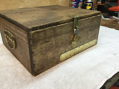 Wooden Marine Box With Cleats And Pulleys
