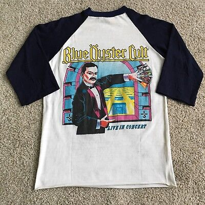 23161ef708f7 RARE Vintage Early 80 s Blue Oyster Cult North America Tour T-Shirt Size M