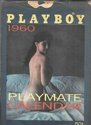 Playboy Playmate 1960 Calendar (Fn/vf) With Hard To Find Sleeve