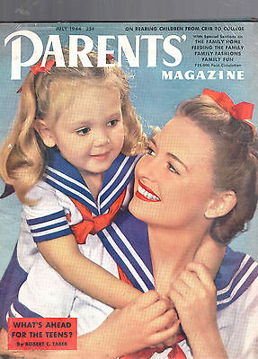 July 1944 Parents' Magazine-Family Home-Fashions-Fun-What's Ahead For The Teens