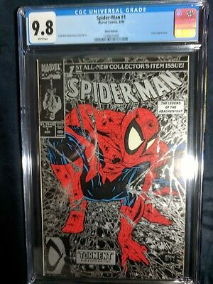 SPIDER-MAN #1 MCFARLANE CGC 9.8 (Silver Edition) MINT VERY COLLECTIBLE!