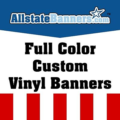 2'x5'  Full Color Custom Banner High Quality 13oz Vinyl - SUPER FAST SHIPPING