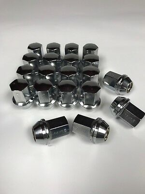24pc Chrome GMC Sierra OEM Factory Style Lug Nuts M14x1.5 22mm Hex