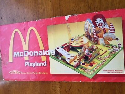 McDonald's Playland Board Game 1984