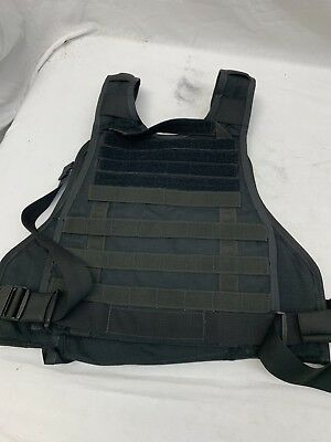 Old School Eagle S/M MOLLE Plate Carrier Black LE Duty SWAT Active Shooter