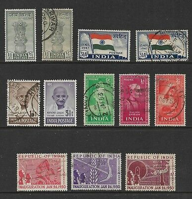 INDIA mixed collection No.43, 1947-1952, used & mint MH MNG