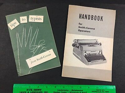 Antique Vtg Smith-Corona Typewriter Typing Manual Lot Tips to Typists 1950's