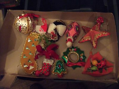 Vintage Mix Lot Of Handcrafted Christmas Tree Ornaments