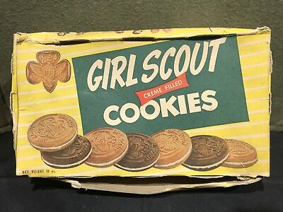 Dated 1949 Girl Scout Cookies Box W Brownie Wardrobe Cut Out Doll