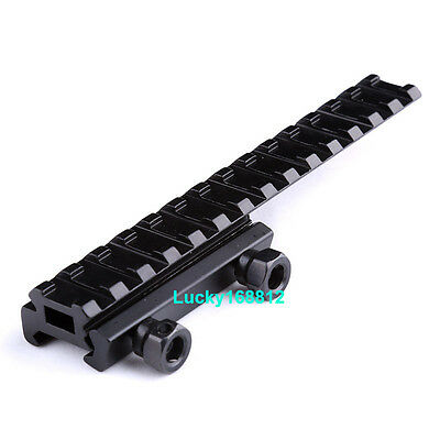 """Tactical Scope Mount 1/"""" inch Riser Base See-Thru Flat Top w//Extended long Pour *"""