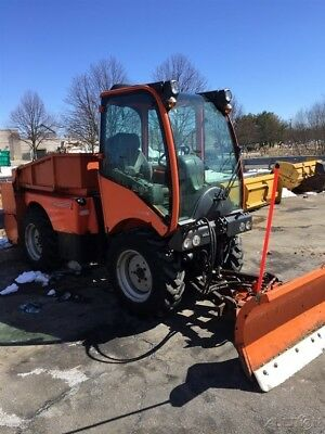 2014 Holder C4.74DB 4x4 Diesel Utility Vehicle w/ Front Snow Blade & Cab Coming