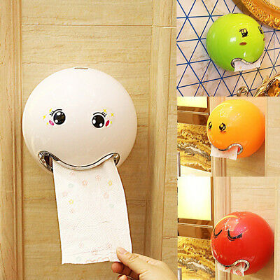 KD_ Ball Shaped Emoji Facial Tissue Bathroom Toilet Roll Paper Box Holder Nove