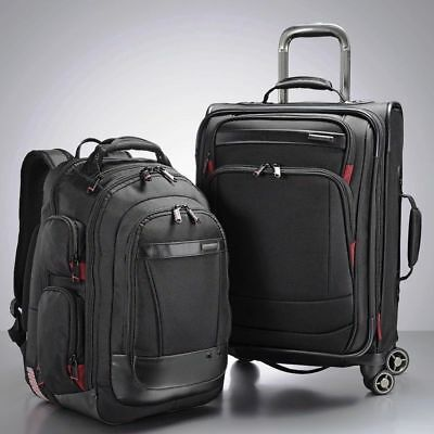 "2pc Samsonite Prowler GT Business Set 21"" Spinner Luggage & Backpack Bags"