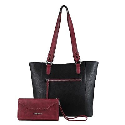 Concealed Carry Grace Gun Tote with Wallet by Lady Conceal, Locking CCW Purse