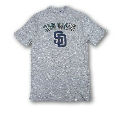 c9e198c70 San Diego Padres Men s T-Shirt Majestic Gray Heather Camouflage Logo NWOT