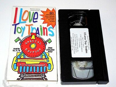 I LOVE TOY TRAINS PT 10 11 12 VHS RAILROADING IN THE 90's Railroad Tape