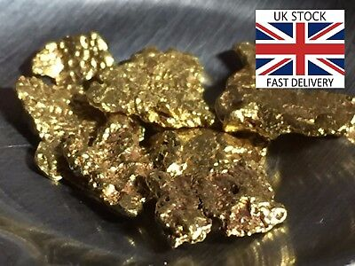 Gold Nuggets 12x High Purity 21-23kt Pure Genuine Alaskan Approx 2.0mm-4.0mm UK