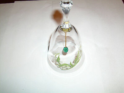 """Vintage Glass Bell, Avon, 24% Full Lead Crystal,6"""", Great Condition, no flaws"""