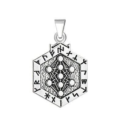 3pcs Double Side Tree of Life Pendant Yggdrasil Armanen Viking Runes Pendant