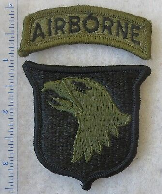 101st AIRBORNE DIVISION PATCH US ARMY Subdued VIETNAM Vintage Merrowed Edge Used