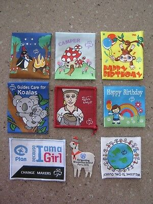 Girl Guides Australia BADGE LOT, collectible, swapping Jamboree 2018