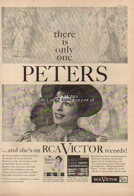 1956 Roberta Peters RCA Victor LP Records LM 1786 LM 1911 Vintage 50s Photo Ad