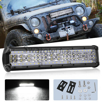 """14""""in 420W LED Work Light Bar Combo Offroad Driving SUV Truck 4WD Trailer Pickup"""