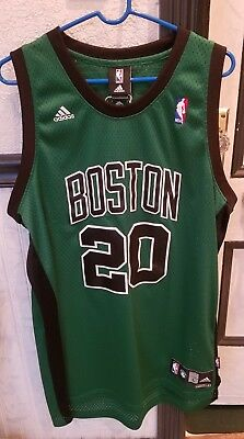 3cbdeaf1c Adidas Boston Celtics Ray Allen Jersey 20 Alternate Green Black Mens Large  Sewn