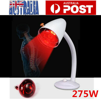 275W Infrared Red Heat Lamp Light Therapy Aches Therapeutic Health Pain Relief