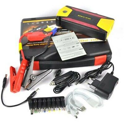 282800mAh 4USB Car Jump Starter Emergency Charger Booster Power Bank Battery SOS
