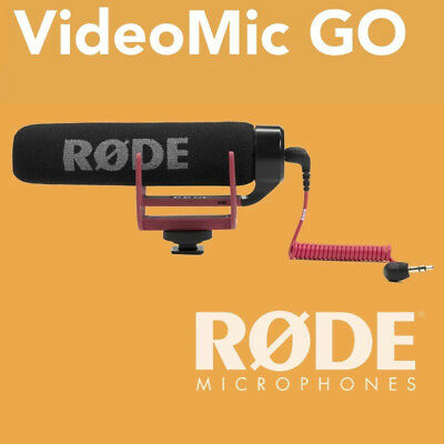 Rode VideoMic GO On Camera Shoe Mount Rycote Lyre Onboard Microphone