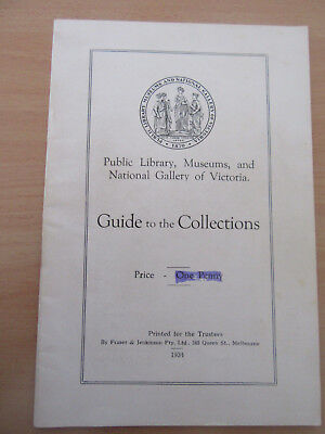 Guide To The Collections, 1934, Library, Museums & National Gallery Of Victoria