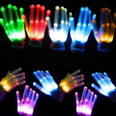 LED Flashing Finger Light Up Gloves Colorful Lighting for Party Halloween Xmas