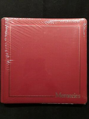 "NEW!  NIP CREATIVE MEMORIES: 12x12 Red School ""MEMORIES"" Album w/15 White Pages"
