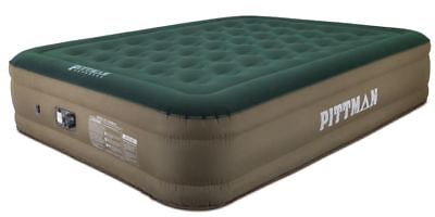 Queen Fabric Ultimate 16In Air Mattress With Built-In Rechargeable Battery Air