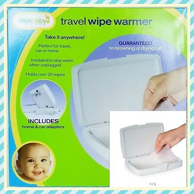 """Dexbaby """"TRAVEL WIPE WARMER"""" with Car Adapter Only - New  WWTHT-01"""