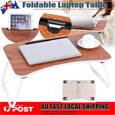 AU Lap Desk Folding Bed Table Tablet Laptop Stand Laptop Table Holder for iPad